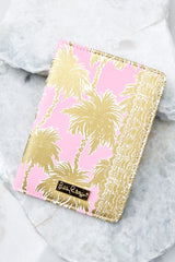 Lilly Pulitzer Metallic Palms Passport Cover