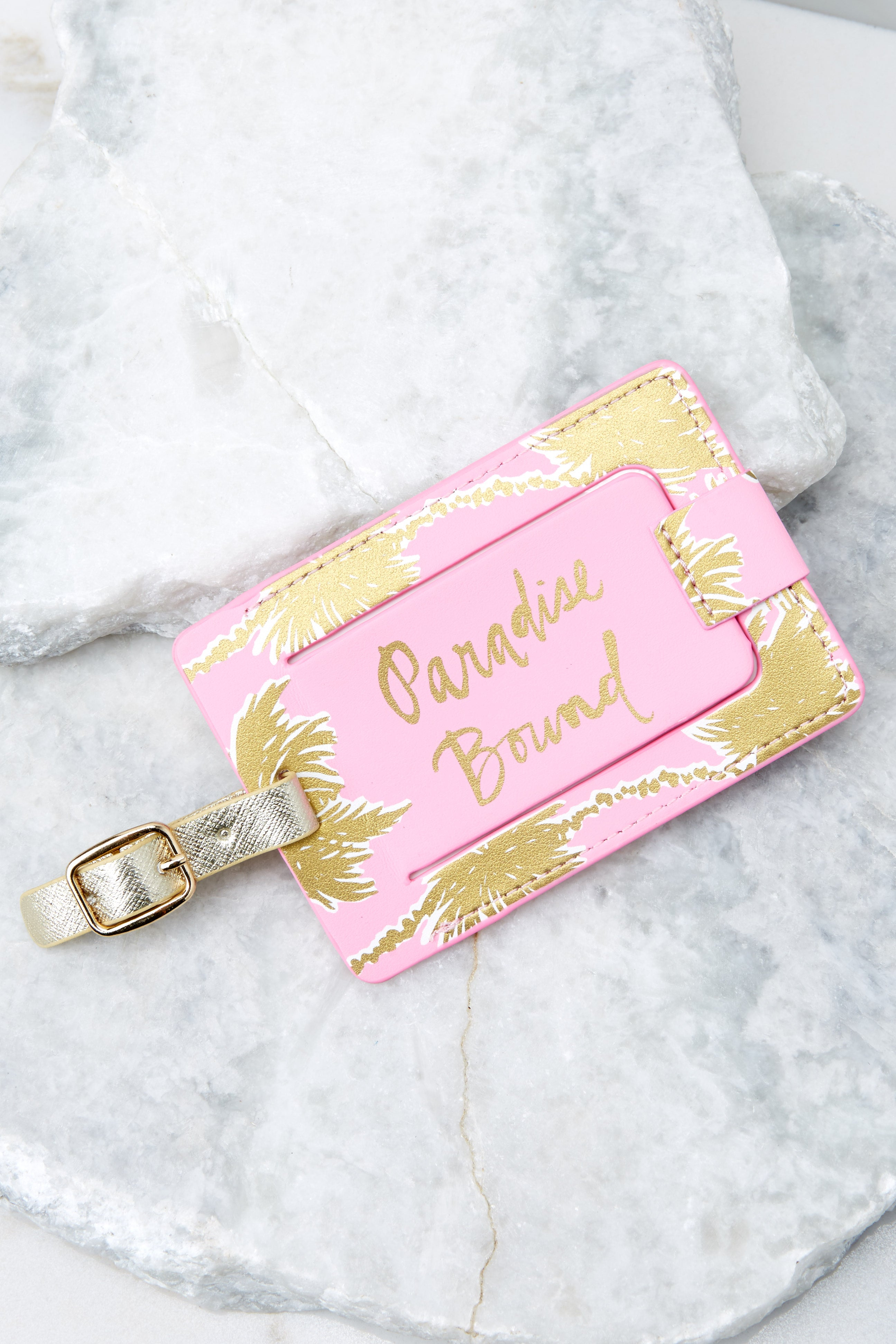 Lilly Pulitzer Metallic Palms Luggage Tag
