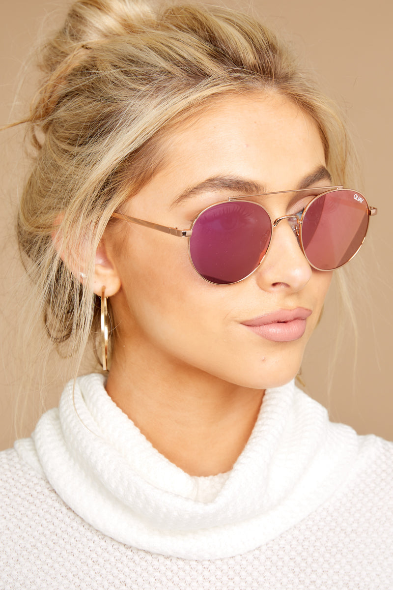 1 Outshine Rose Pink Sunglasses at reddressboutique.com