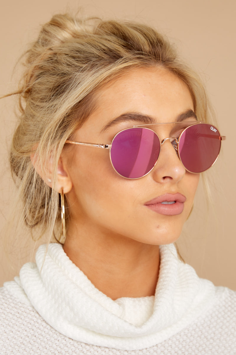 2 Outshine Rose Pink Sunglasses at reddressboutique.com
