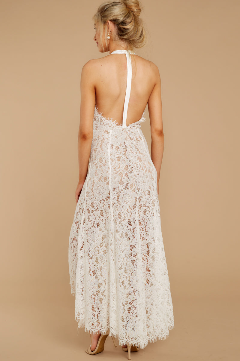 9 Strive For It White Lace High-Low Dress at reddressboutique.com