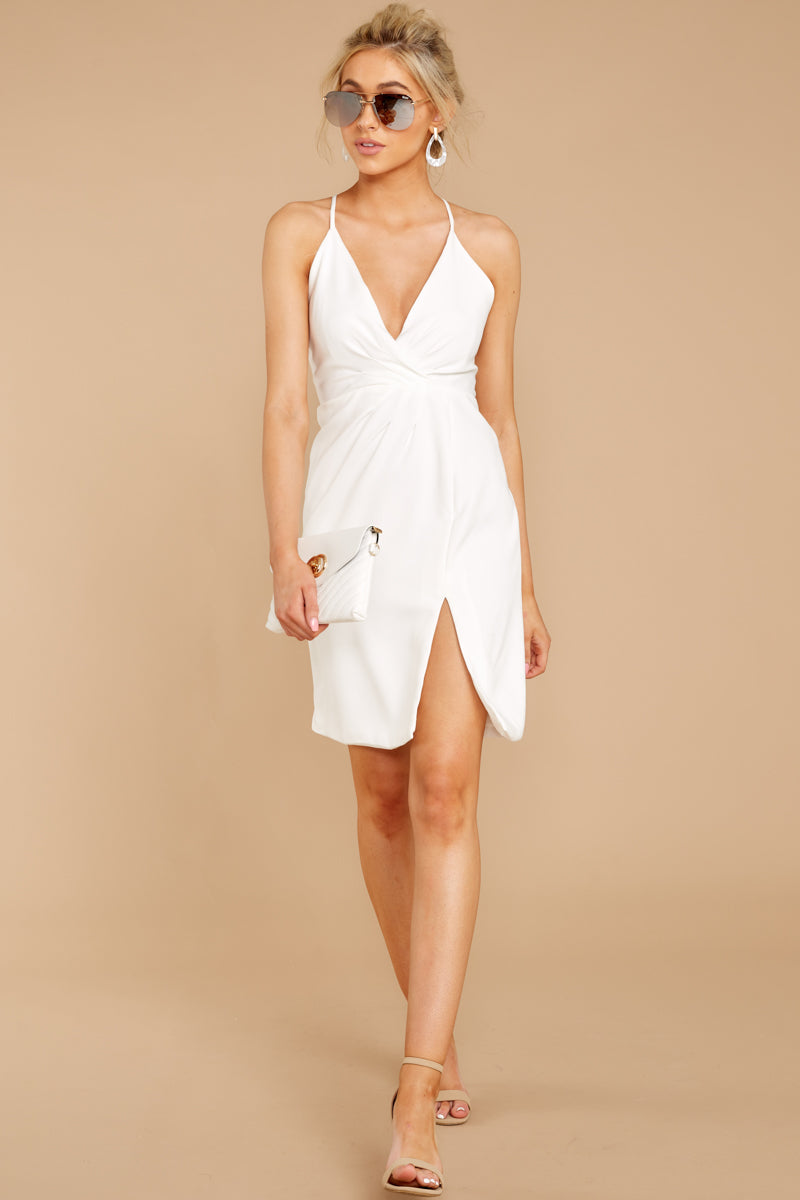 2 Out For The Night White Dress at reddressboutique.com