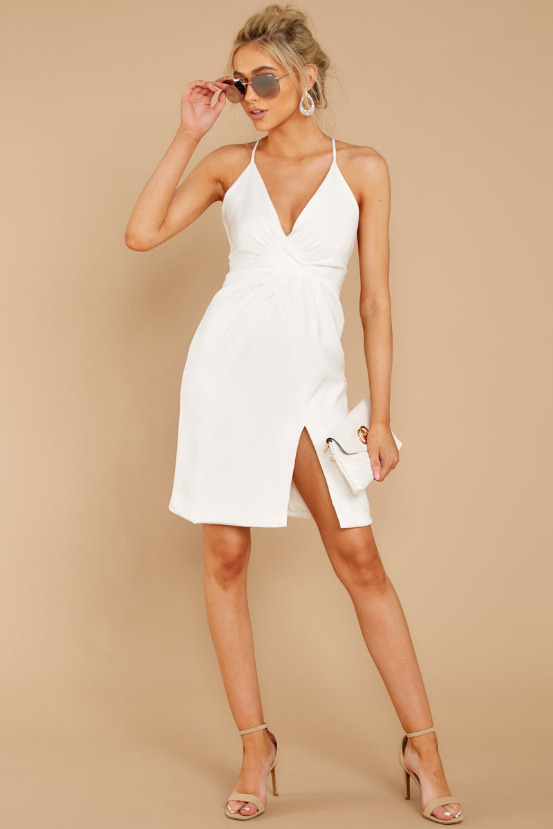 3 Out For The Night White Dress at reddressboutique.com