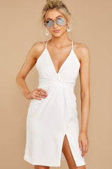 4 Out For The Night White Dress at reddressboutique.com