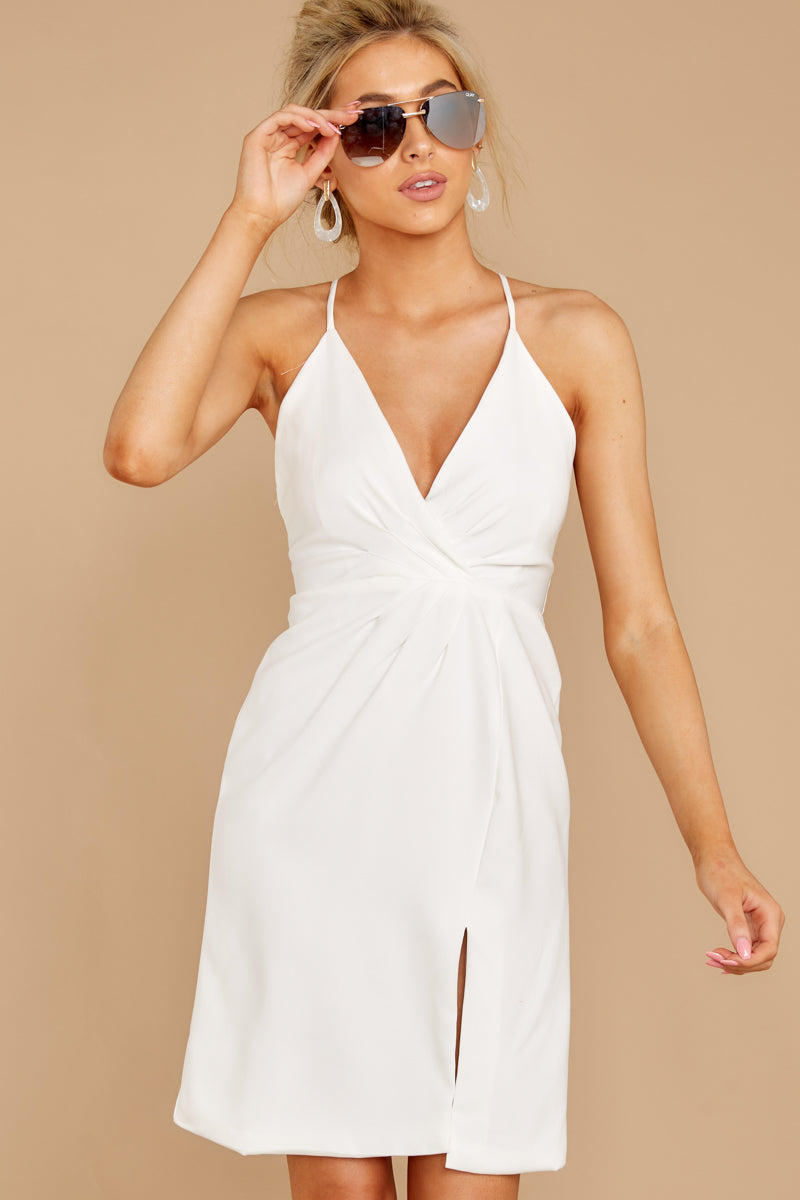 6 Out For The Night White Dress at reddressboutique.com