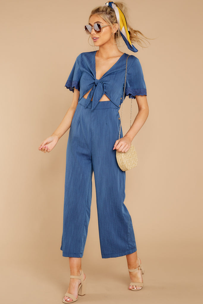 1 Stop For Nothing Royal Blue Romper at reddressboutique.com