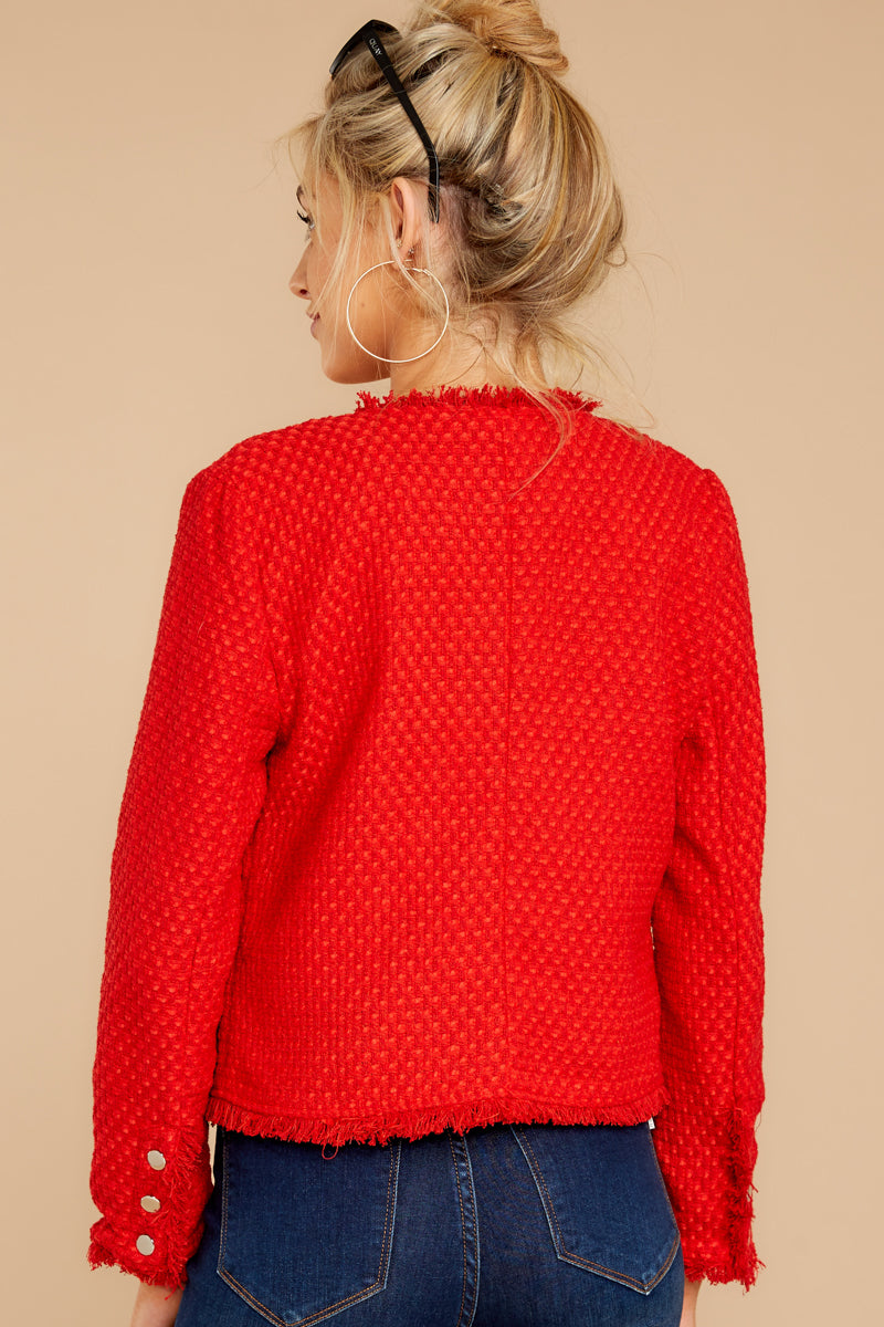 7 All The Class Red Tweed Jacket at reddressboutique.com