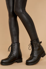 1 They Say Black Lace Up Combat Boots at reddressboutique.com
