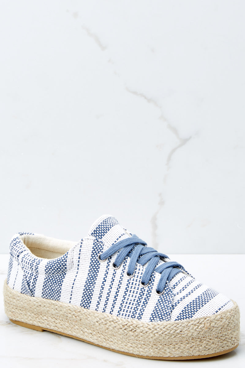 2 Down To Earth Light Blue Flatform Sneakers at reddressboutique.com