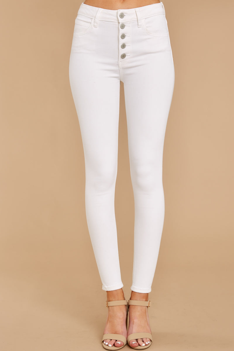 2 Know Your Path White Skinny Jeans at reddressboutique.com
