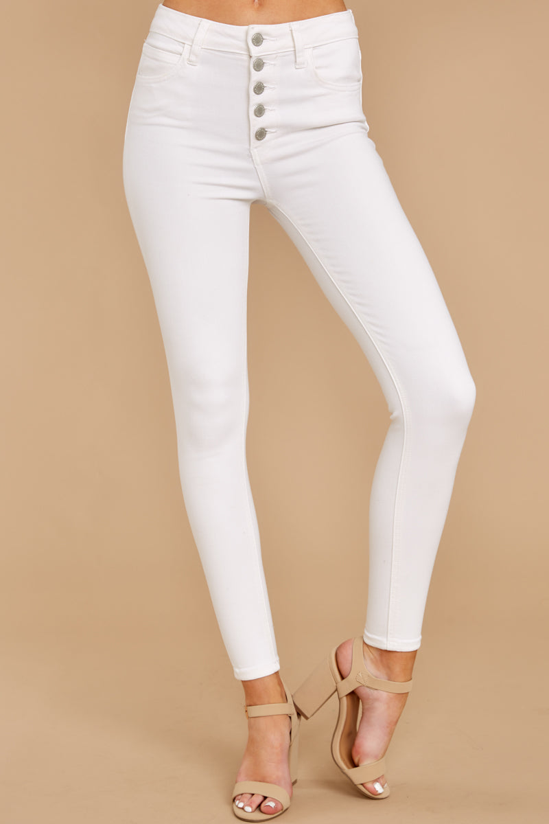 1 Know Your Path White Skinny Jeans at reddressboutique.com
