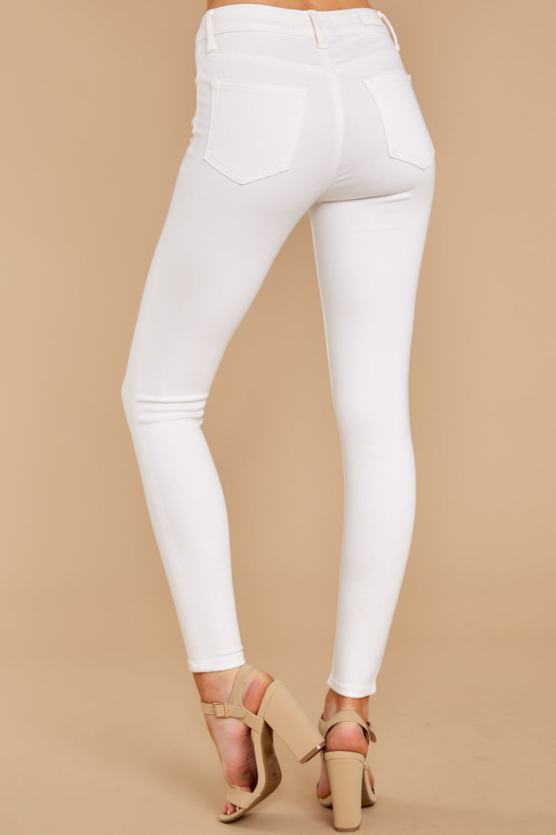 3 Know Your Path White Skinny Jeans at reddressboutique.com