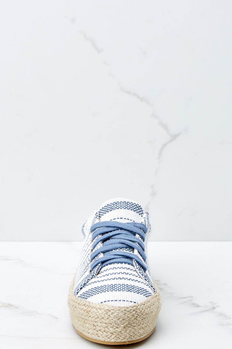 3 Down To Earth Light Blue Flatform Sneakers at reddressboutique.com