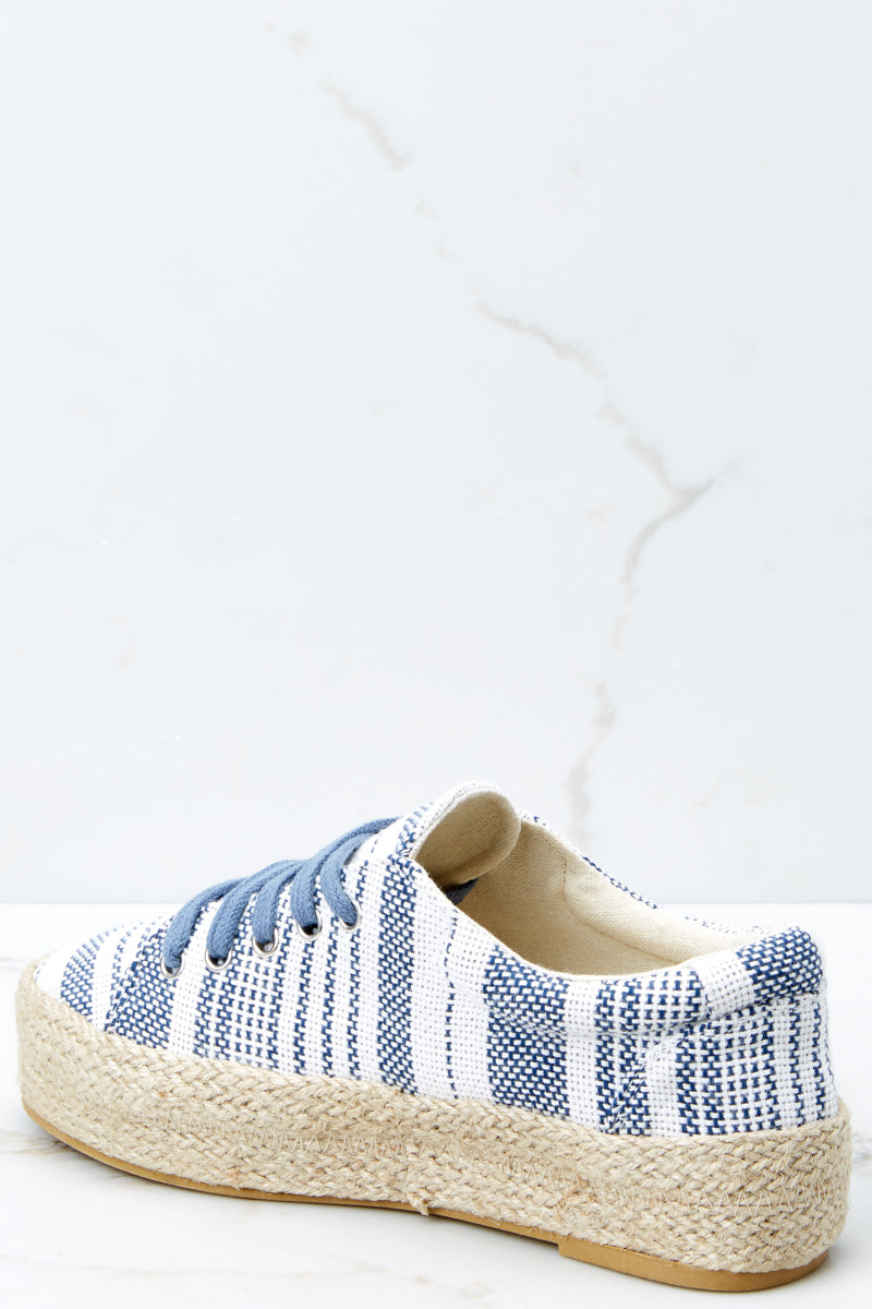 4 Down To Earth Light Blue Flatform Sneakers at reddressboutique.com