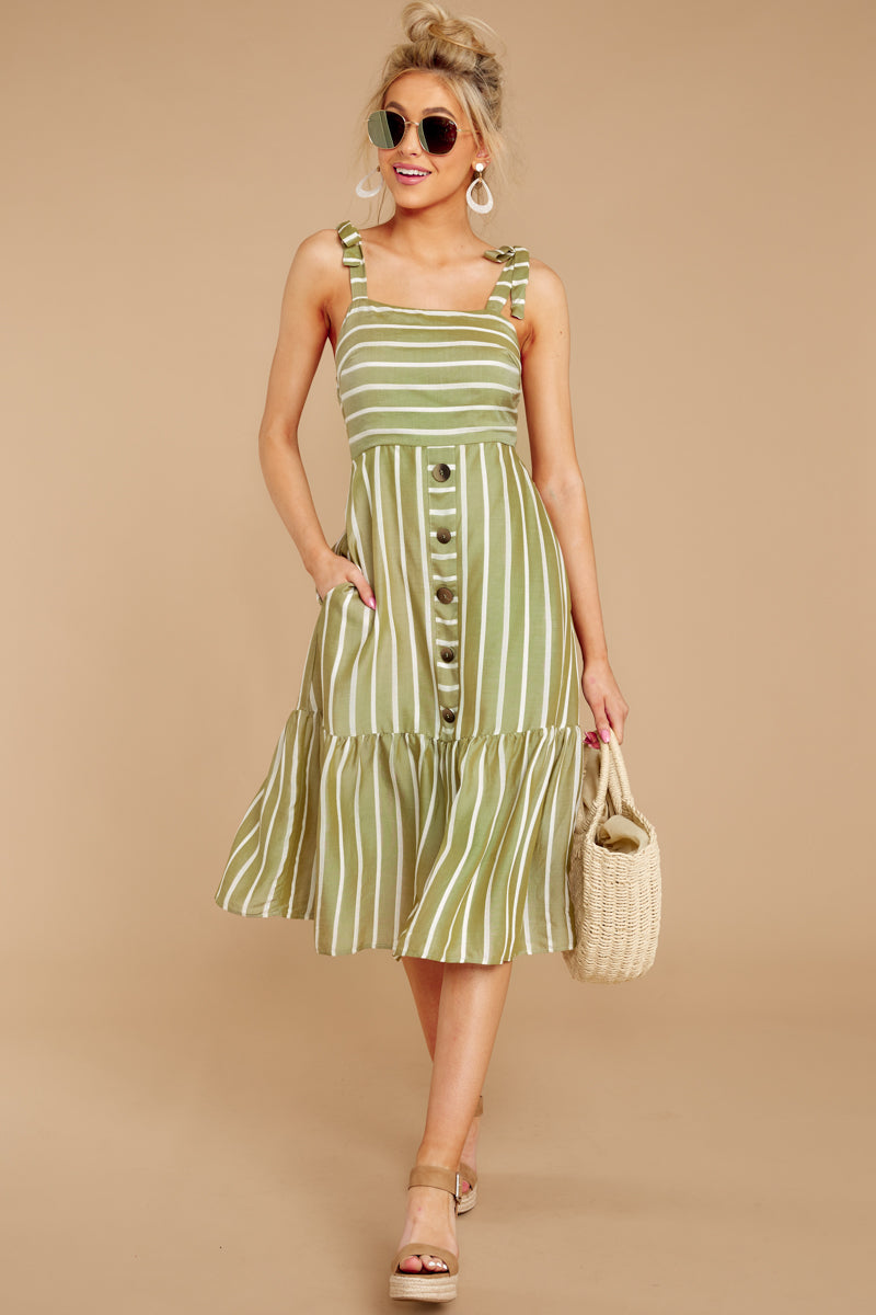2 Accept Nothing Less Light Moss Midi Dress at reddressboutique.com