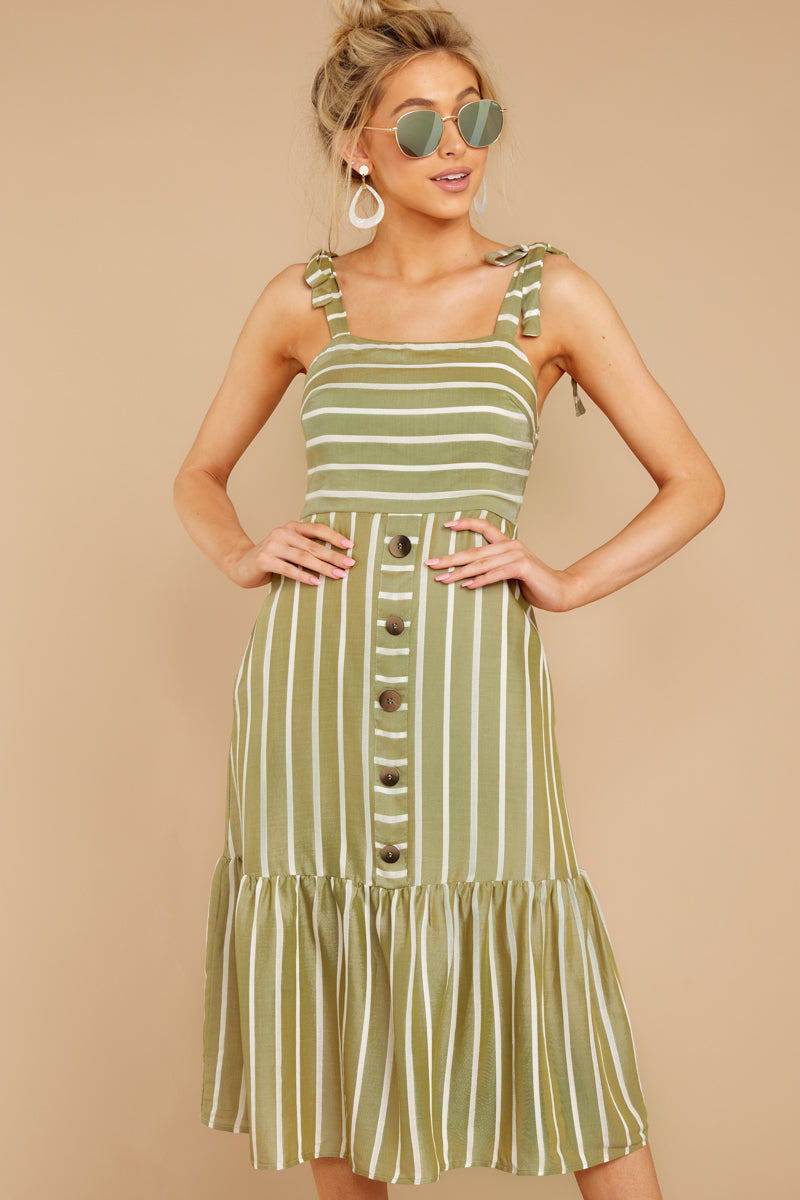 3 Accept Nothing Less Light Moss Midi Dress at reddressboutique.com