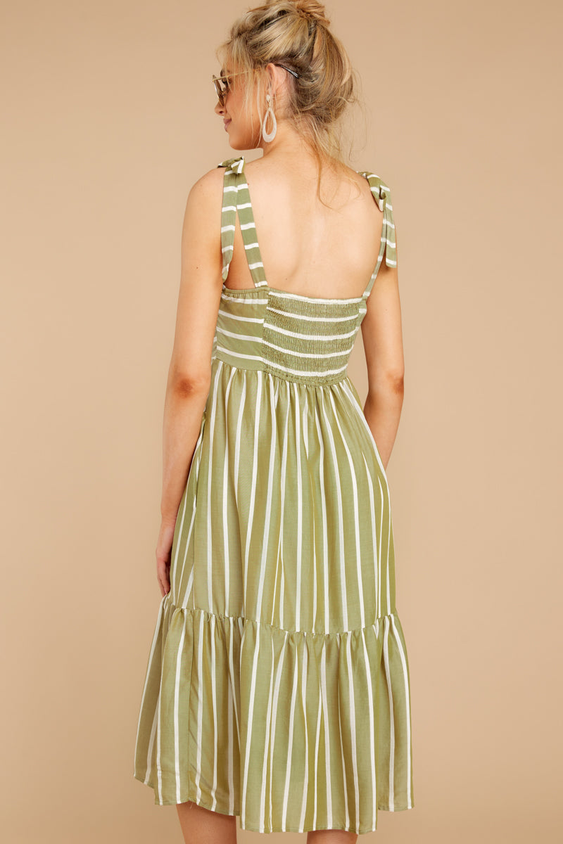 4 Accept Nothing Less Light Moss Midi Dress at reddressboutique.com