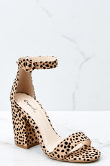 1 Can't Stop Won't Stop Cheetah Print Ankle Strap Heels at reddressboutique.com