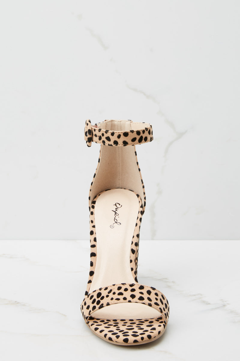 2 Can't Stop Won't Stop Cheetah Print Ankle Strap Heels at reddressboutique.com