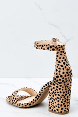 3 Can't Stop Won't Stop Cheetah Print Ankle Strap Heels at reddress.com