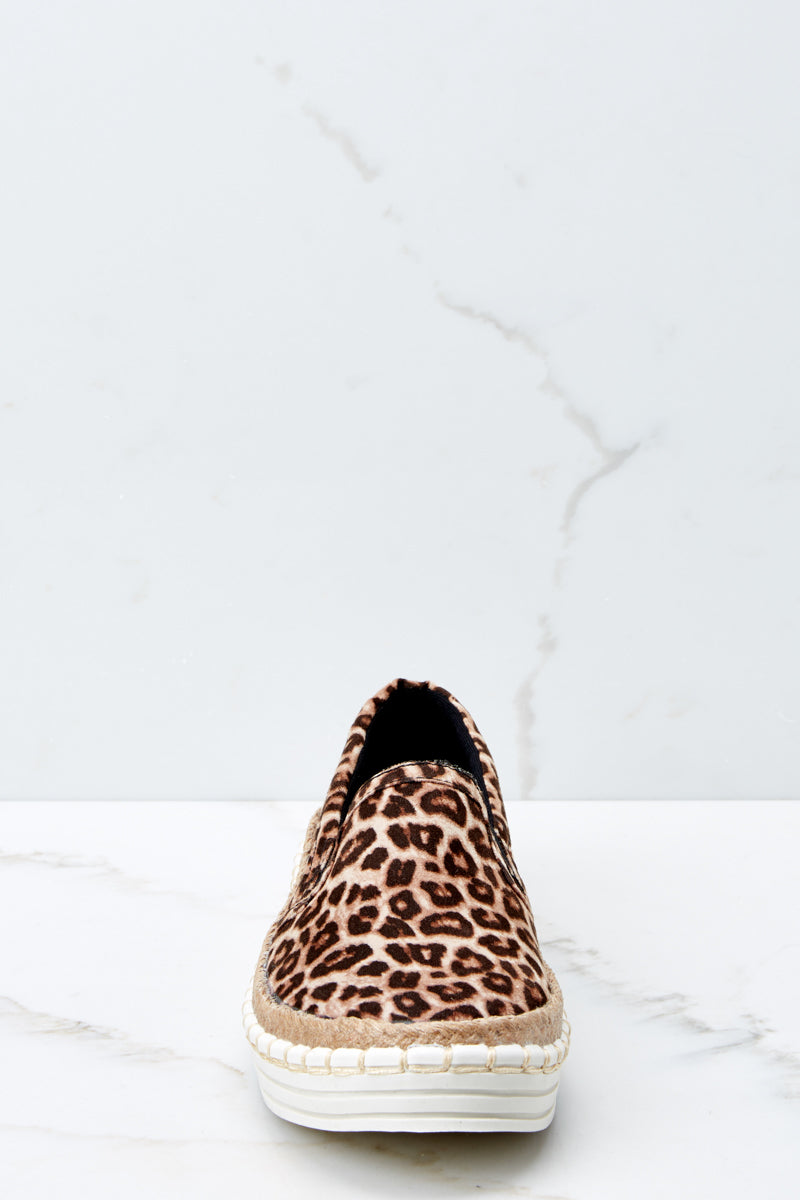 2 Going Anywhere Leopard Print Slip On Sneakers at reddressboutique.com