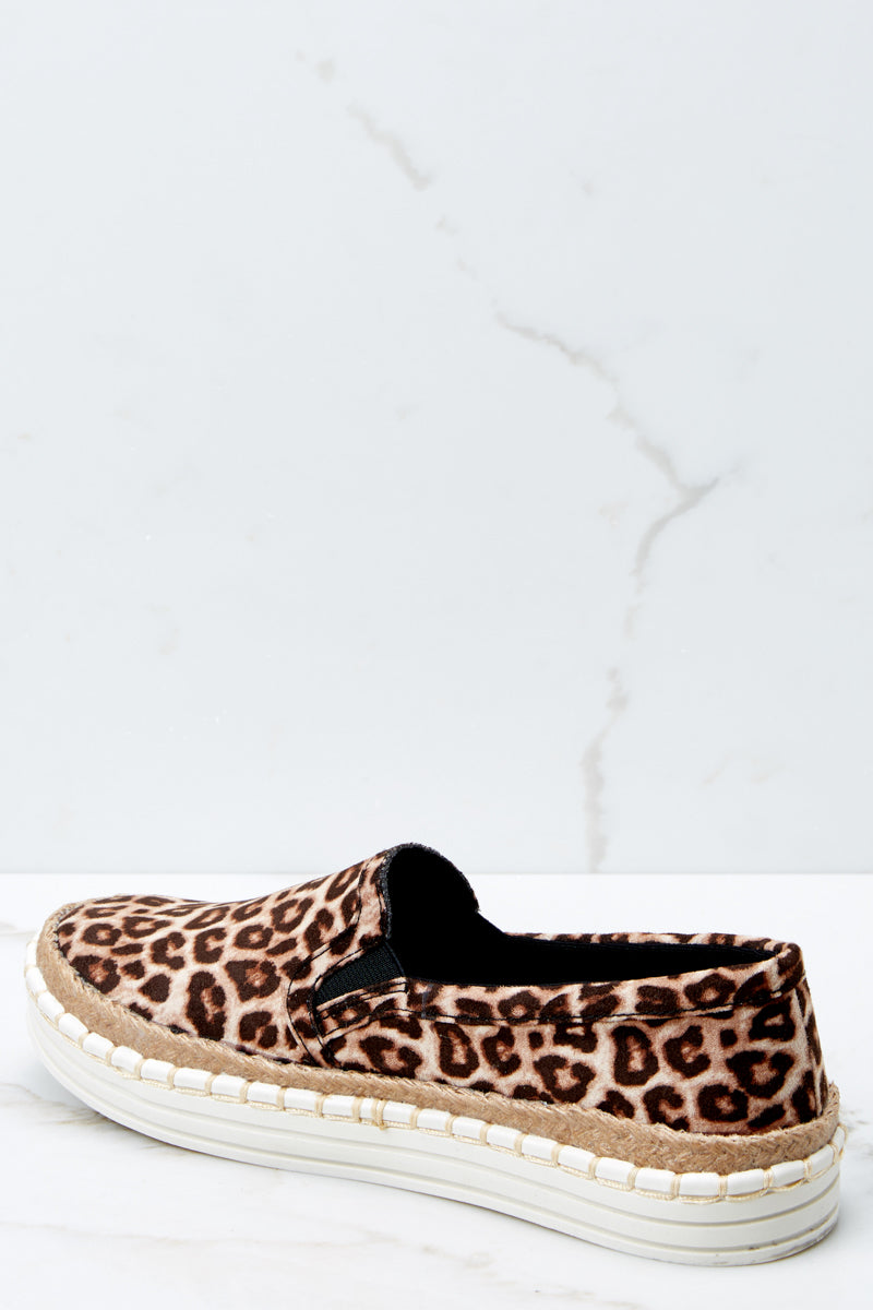 3 Going Anywhere Leopard Print Slip On Sneakers at reddressboutique.com