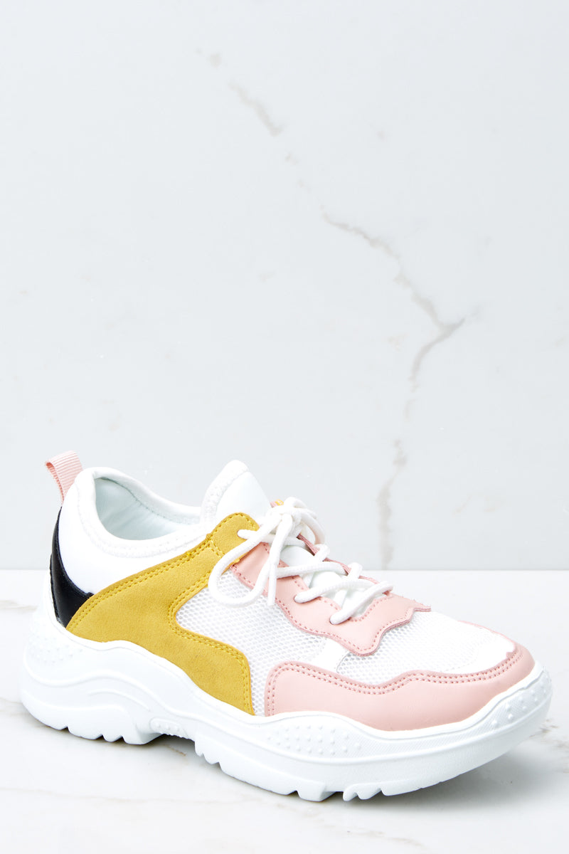2 Colorful Soul White Multi Sneakers at reddressboutique.com