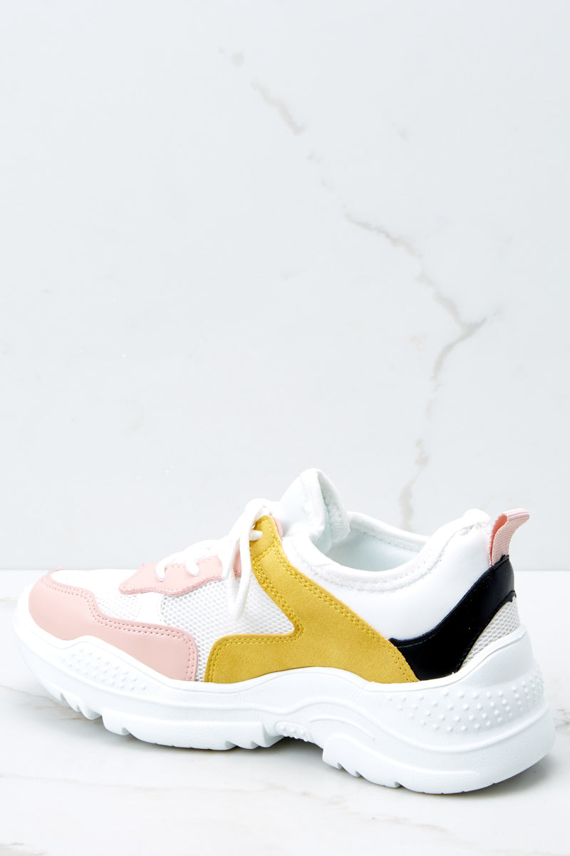 4 Colorful Soul White Multi Sneakers at reddressboutique.com
