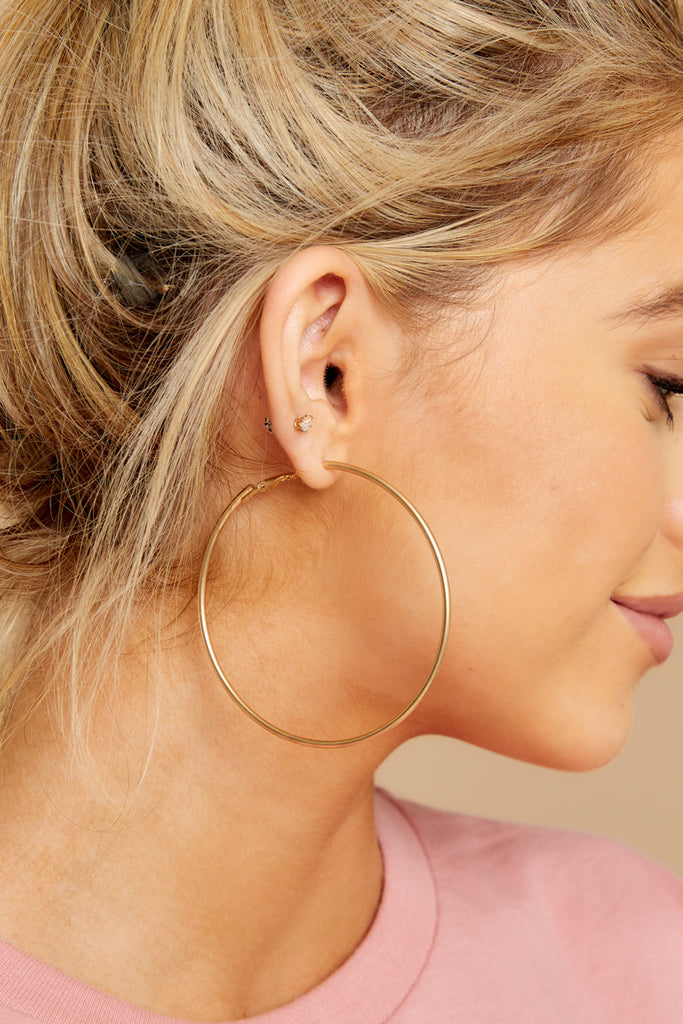 Hang It Up Rose Gold Hoop Earrings