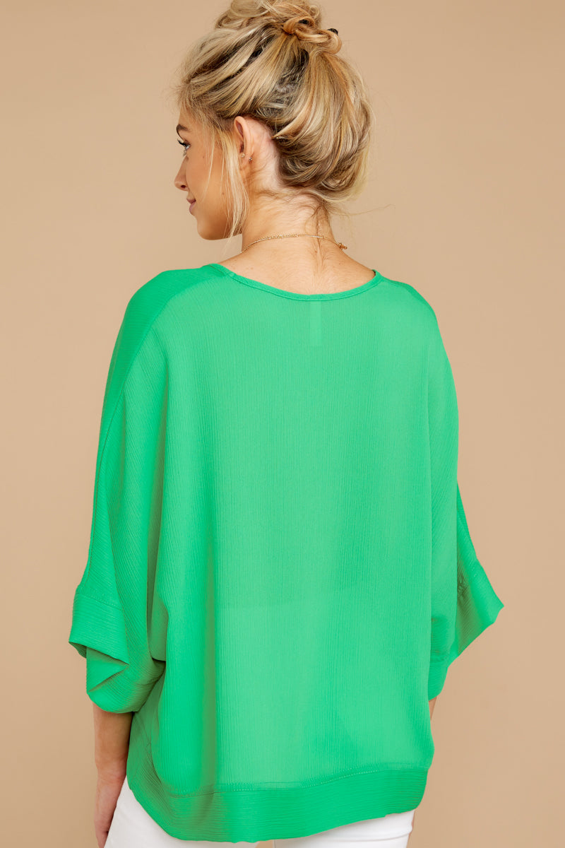 5 If I'm Honest Kelly Green Top at reddressboutique.com