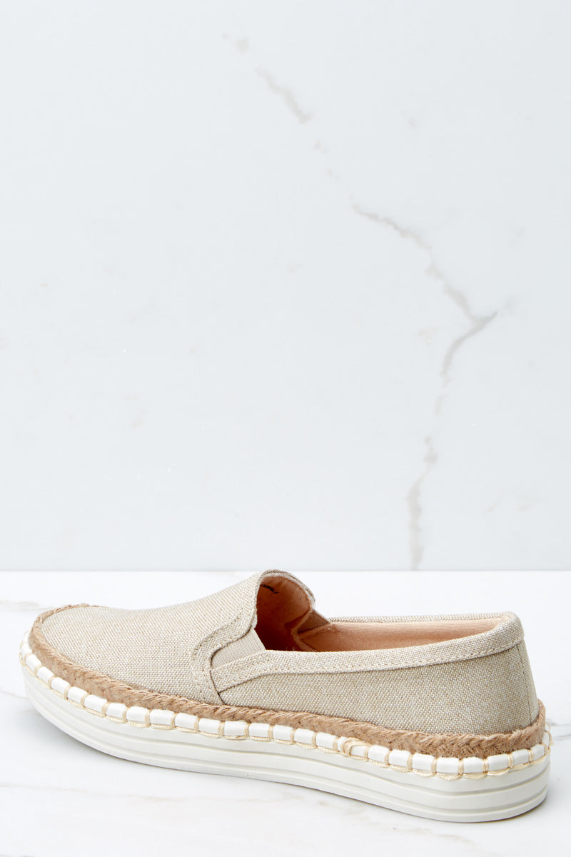 3 Going Anywhere Beige Slip On Sneakers at reddressboutique.com