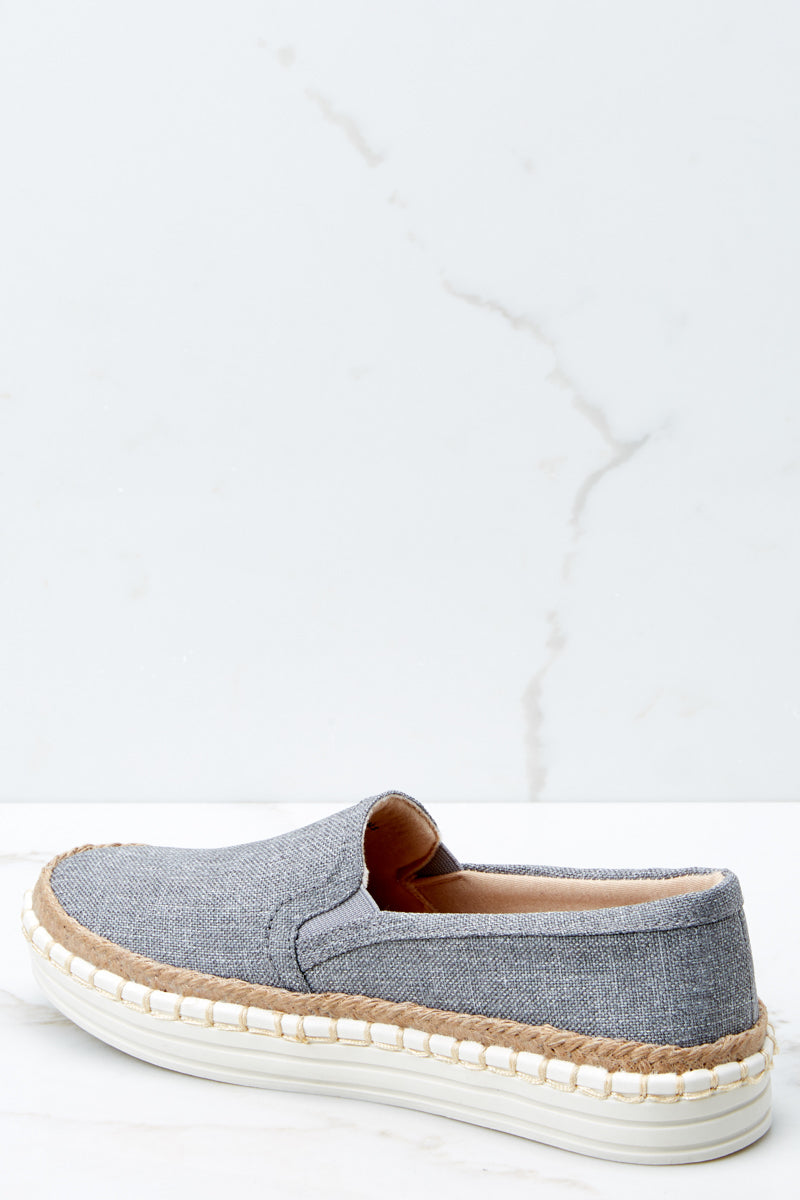3 Going Anywhere Grey Slip On Sneakers at reddressboutique.com