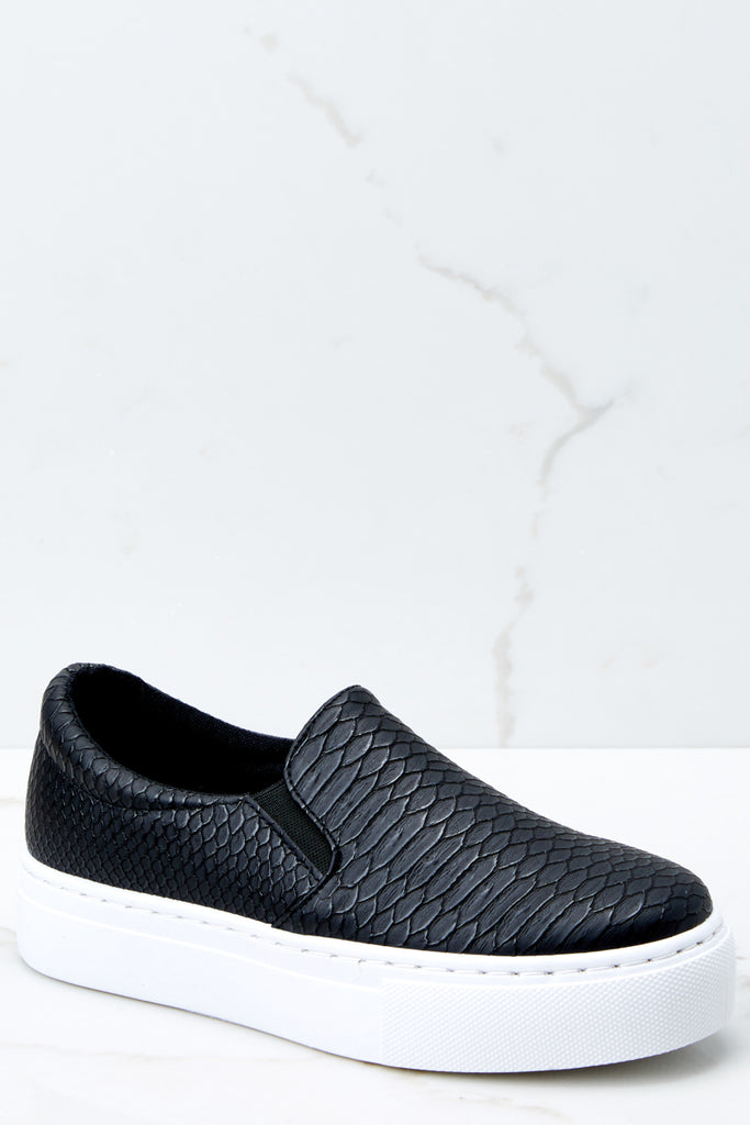 4 Passing Expectations Black Slip On Sneakers at reddressboutique.com
