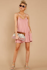 2 Everytime I Think About You Mauve Pink Romper at reddressboutique.com