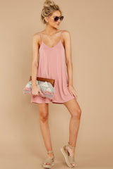 1 Everytime I Think About You Mauve Pink Romper at reddressboutique.com