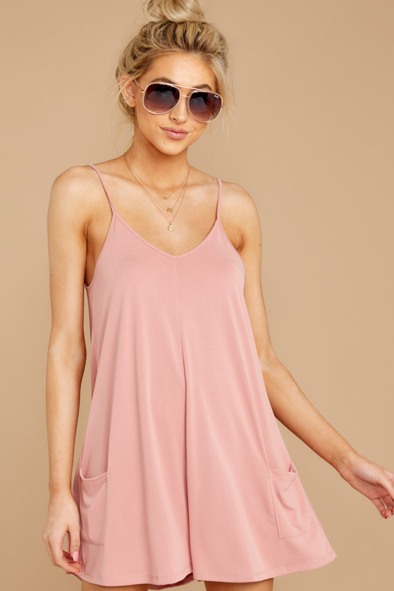 4 Everytime I Think About You Mauve Pink Romper at reddressboutique.com