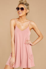 5 Everytime I Think About You Mauve Pink Romper at reddressboutique.com