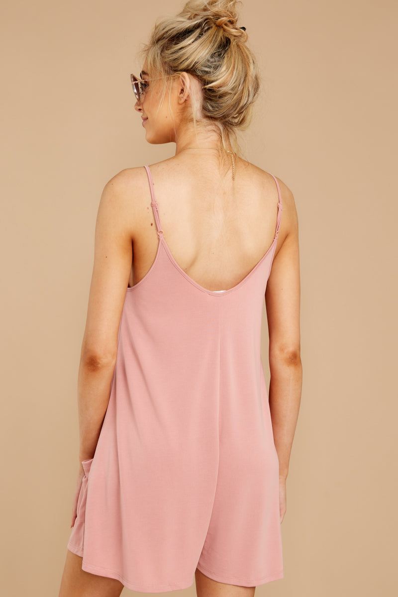 6 Everytime I Think About You Mauve Pink Romper at reddressboutique.com