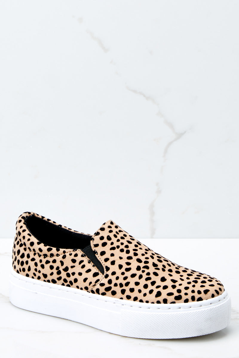 1 Shift The Ground Cheetah Slip On Sneakers at reddressboutique.com