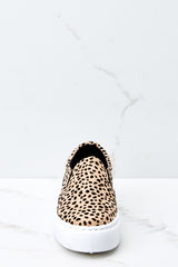 2 Shift The Ground Cheetah Slip On Sneakers at reddressboutique.com