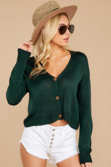 7 Keep It Real Evergreen Cropped Cardigan at reddressboutique.com
