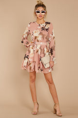 1 Say It With Flowers Blush Pink Floral Print Dress at reddressboutique.com