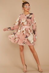3 Say It With Flowers Blush Pink Floral Print Dress at reddressboutique.com
