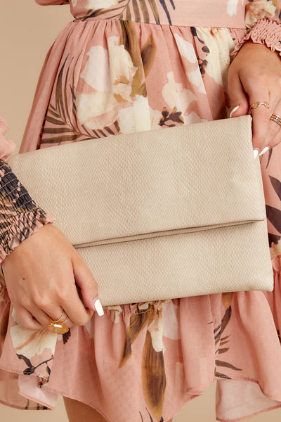 Easy Compliment Snakeskin Clutch