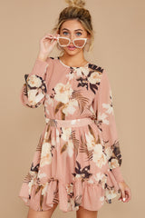 7 Say It With Flowers Blush Pink Floral Print Dress at reddressboutique.com