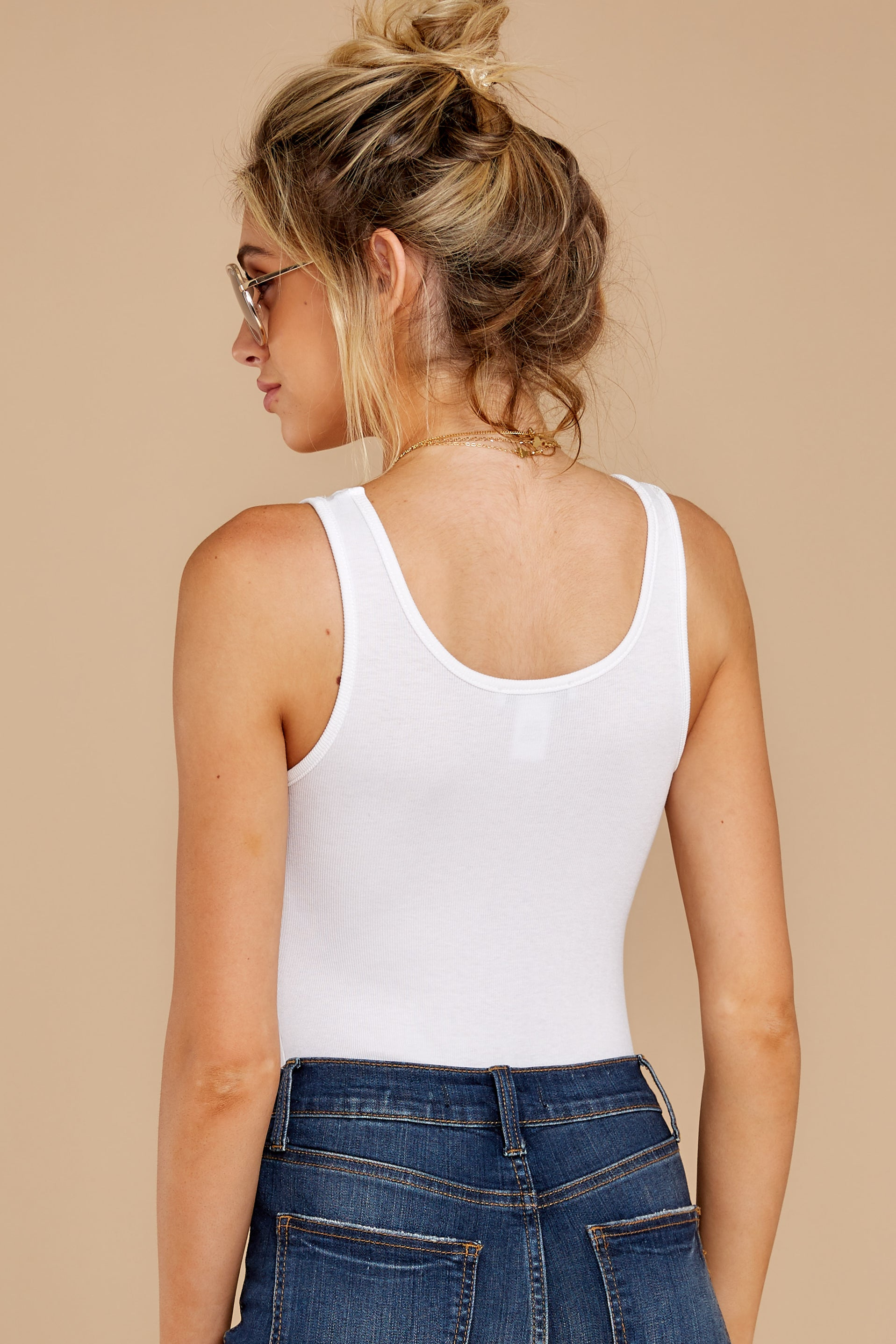 5 Simple As That White Bodysuit at reddress.com