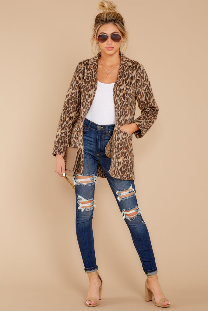 4 The Natural Leopard Sherpa Teddy Bear Coat at reddressboutique.com