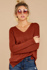 6 Give It A Rest Copper Sweater at reddressboutique.com