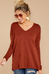 7 Give It A Rest Copper Sweater at reddressboutique.com