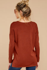 8 Give It A Rest Copper Sweater at reddressboutique.com